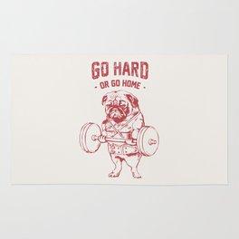 GO HARD OR GO HOME Rug