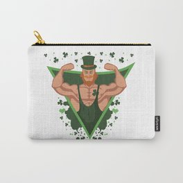 St Patricks Day Strong Irish Men Bodybuilder Gift Carry-All Pouch
