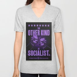 """Vintage """"The Other Kind of Socialist"""" Alcoholic Lithograph Advertisement in vivid purple Unisex V-Neck"""