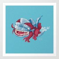 Sky Robot Monster Art Print