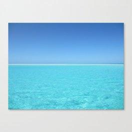 Tropical Turquoise Sea Canvas Print