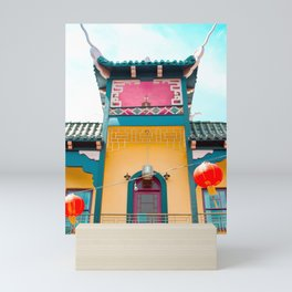 Travel photography Chinatown Los Angeles V temple front Mini Art Print