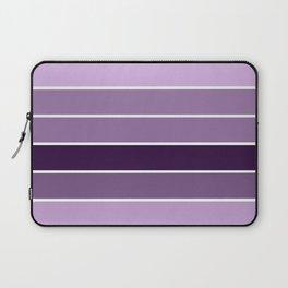 Lavender Purple Stripes Laptop Sleeve