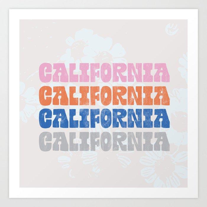 vintage california Art Print