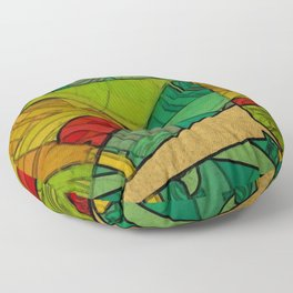 Tropical Farm Floor Pillow