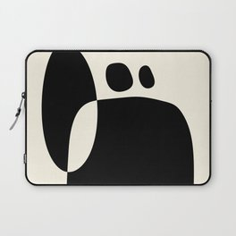 shapes black white minimal abstract art Laptop Sleeve