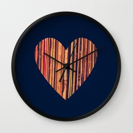 Valentine's Day Vinyl Records Heart Hipster Wall Clock