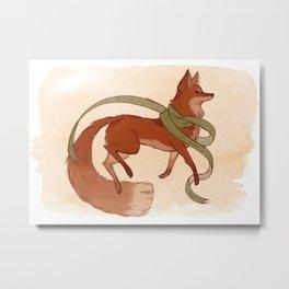 Scarf Fox Metal Print
