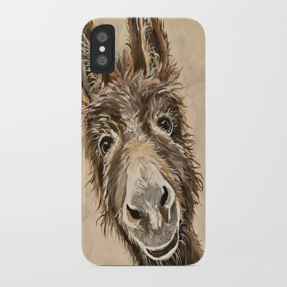 Neutral Donkey Painting, Donkey Art Phone Case by Leekeller PCS8997268