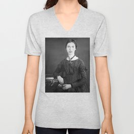 Emily Dickinson Portrait Unisex V-Neck