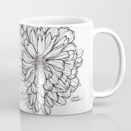 Ink Illustration of Summer Blooms Coffee Mug