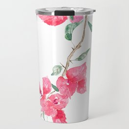 red  pink  bougainvillea watercolor Travel Mug