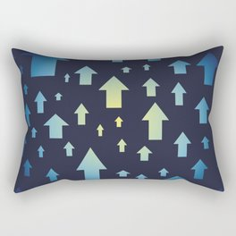 Arrows pattern up. Abstract design of vertical arrows. Rectangular Pillow