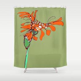Autumn Olive Gerbera Shower Curtain