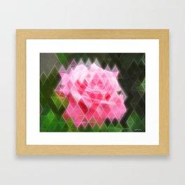 Pink Roses in Anzures 4 Art Triangles 2 Framed Art Print