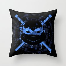 Leonardo Turtle Throw Pillow