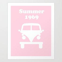 Summer 1969 -  pink Art Print