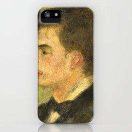 Georges Rivière Oil Painting by Auguste Renoir iPhone Case