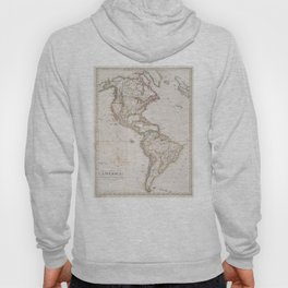 Vintage Map of North and South America (1843) Hoody
