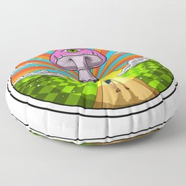 Hippie Magic Mushroom Floor Pillow