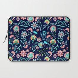 Decorative Floral - Blue  Laptop Sleeve
