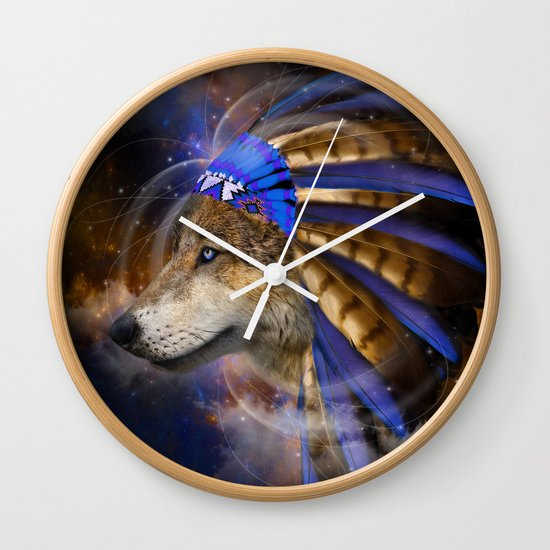 Fight For What You Love (Chief of Dreams: Wolf) Tribe Series Wall Clock