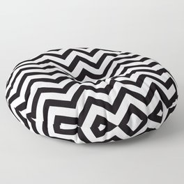 Simple Chevron Pattern - Black & White - Mix & Match with Simplicity Floor Pillow