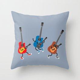 Dancing guitars Throw Pillow