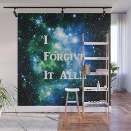 Blue Green Galaxy : I Forgive It All Wall Mural