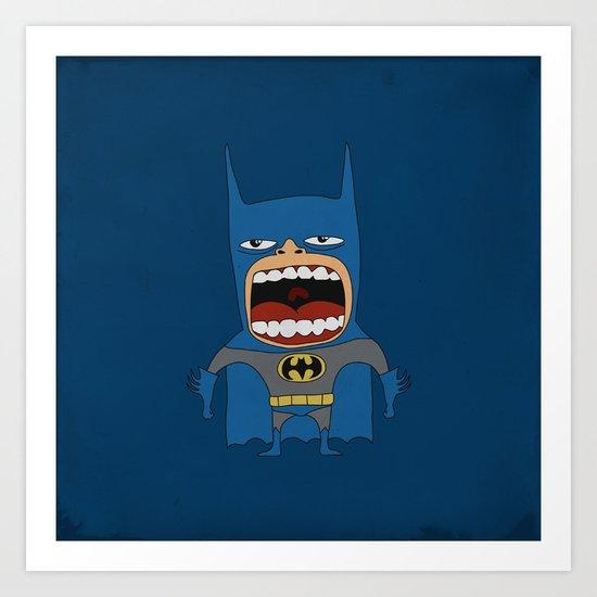 Screaming Batdude Art Print