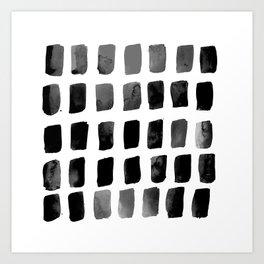 Brushstrokes 1x by Kathy Morton Stanion Art Print