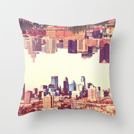Twin Cities Throw Pillow