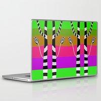 discount Laptop & iPad Skins featuring Zebra Trees - Reflex by Roxana Jordan
