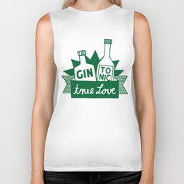 Gin Tonic True Love Biker Tank