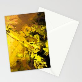 Yellow Lily Golden Light Flower Maelstrom Stationery Cards