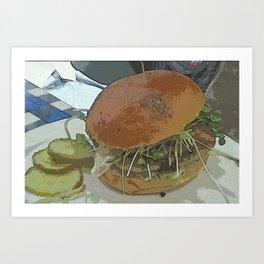 Big City Burger DPPA140817a Art Print