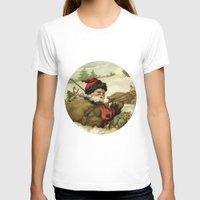 santa T-shirts featuring Vintage Santa  by LebensART