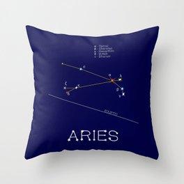 Zodiac Constellation Aries Or Ram Throw Pillow