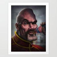 mike tyson Art Prints featuring Mike Tyson Punch Out- Soda Popinski by Joel Stieber