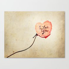 Love heart Message Canvas Print
