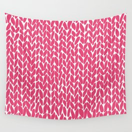 Hand Knit Raspberry Wall Tapestry