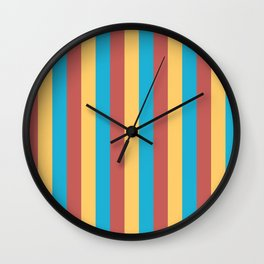 Primary Colours Wall Clock