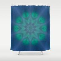 aurora Shower Curtains featuring Aurora by taiche