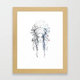 Indian Woman Framed Art Print