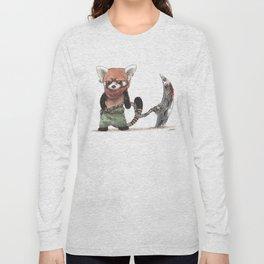 Panda Roux Barbare Long Sleeve T-shirt