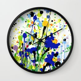 Deep In The Meadow 2 by Kathy Morton Stanion Wall Clock