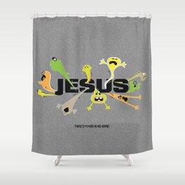 Scary Jesus Shower Curtain