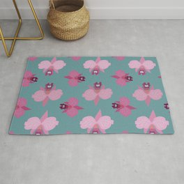 Orchids - seamless #3 Rug