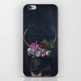 Antlers + Flowers iPhone Skin