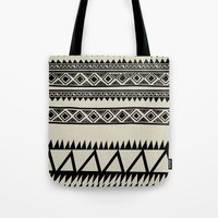 zebra Tote Bags featuring MALOU ZEBRA by Aztec